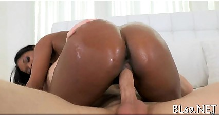 Sex with fascinating black playgirl